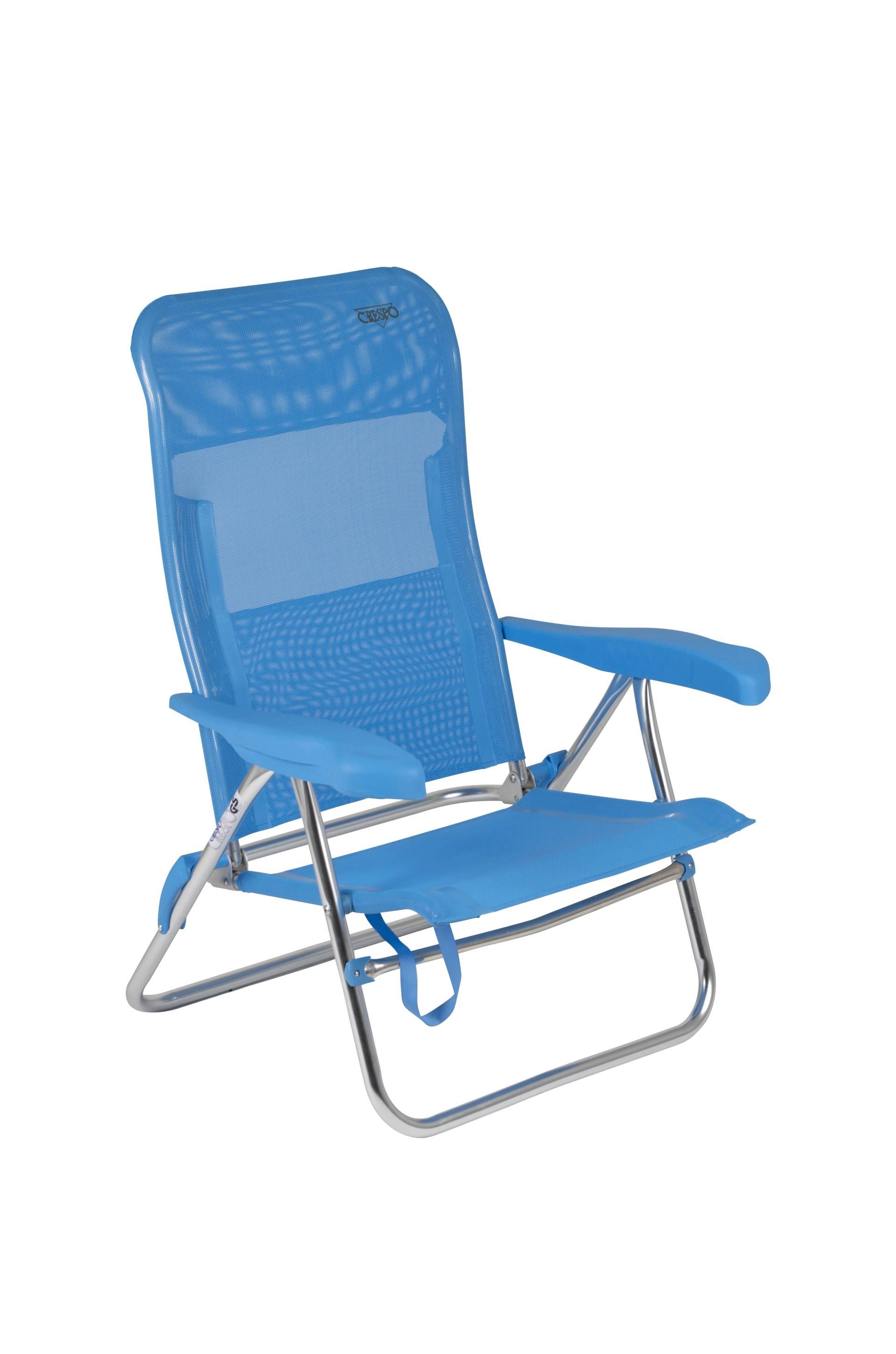 Verstelbare Lage Strandstoel.Crespo Strandstoel Al 205 Blauw 05