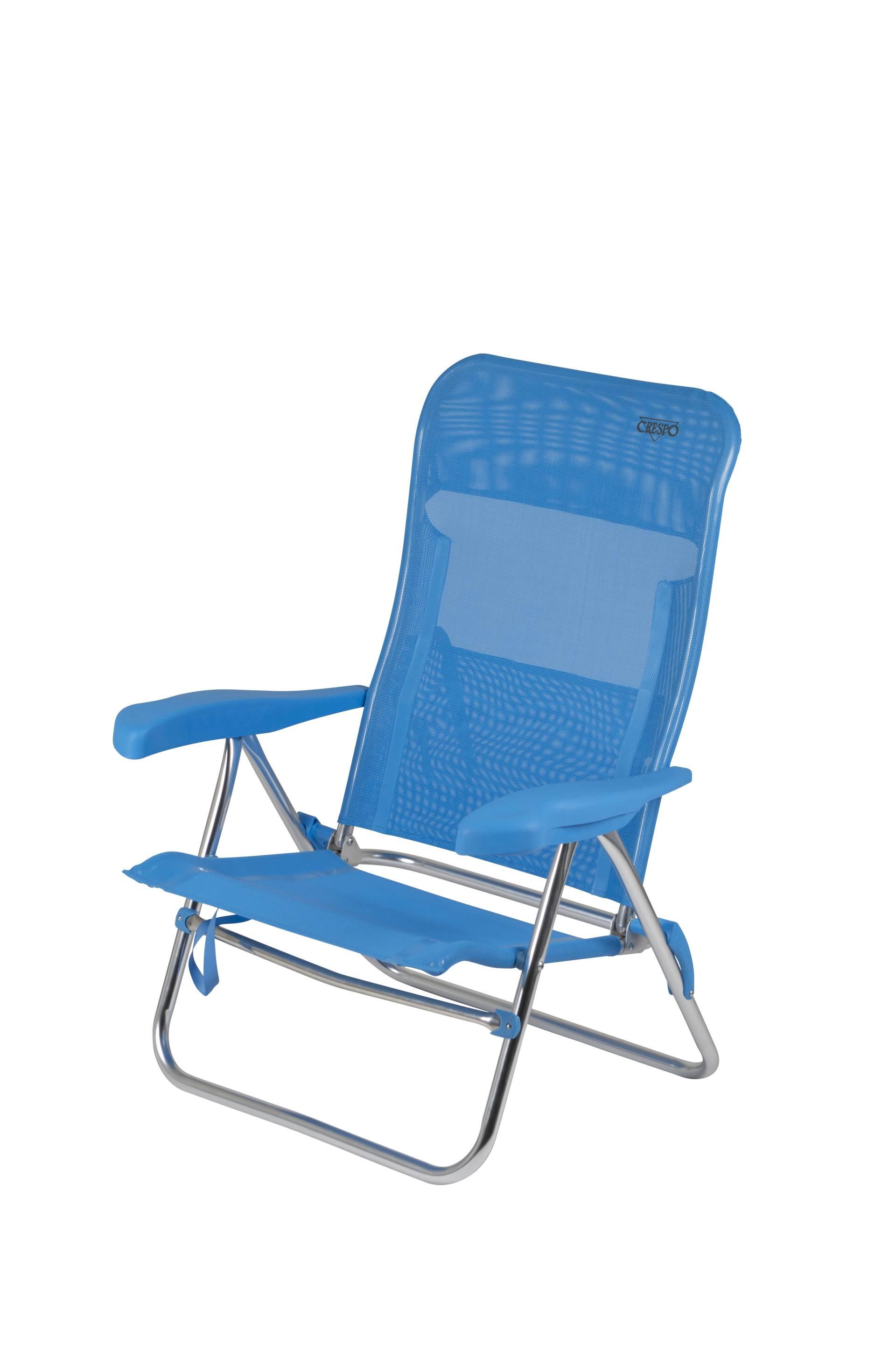 Crespo Strandstoel Aanbieding.Crespo Strandstoel Al 205 Blauw 05