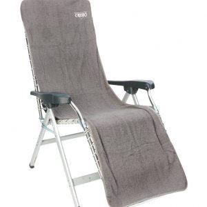 Crespo Badstof stoelhoes L Relaxstoelen 180x58 cm Grijs