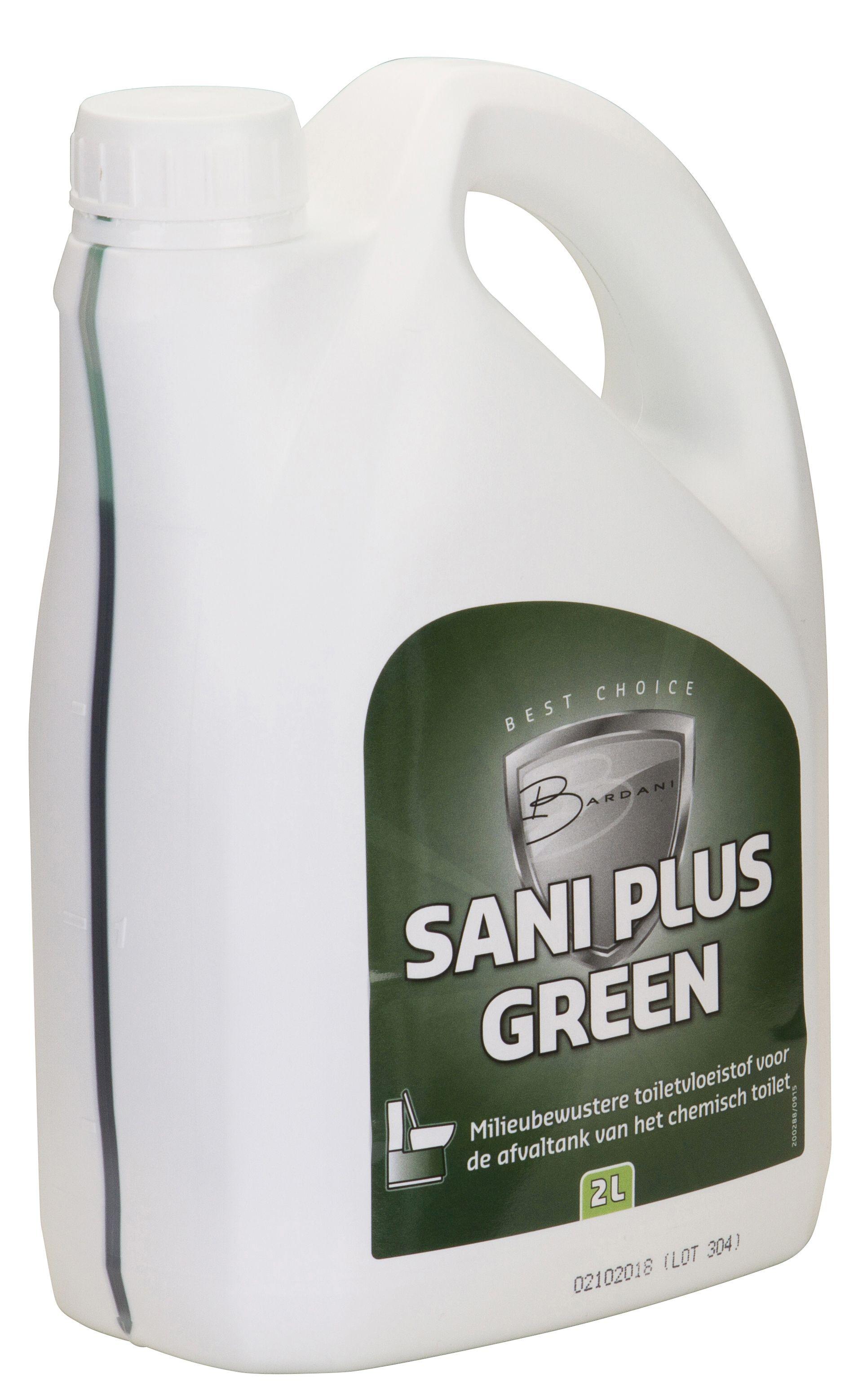 Chemisch Toilet Biologisch Afbreekbaar.Sani Green Toiletvloeistof 2 Liter