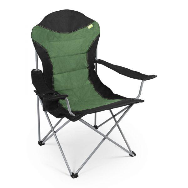 Kampa High Back Chair Zwart/Groen