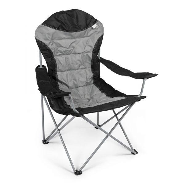 Kampa High Back Chair Zwart/Grijs