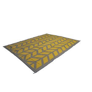Bo Camp Industrial Chill Mat Flaxton Geel Medium 200 x 180 cm