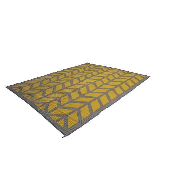 Bo Camp Industrial Chill Mat Flaxton Geel Large 200 x 270 cm