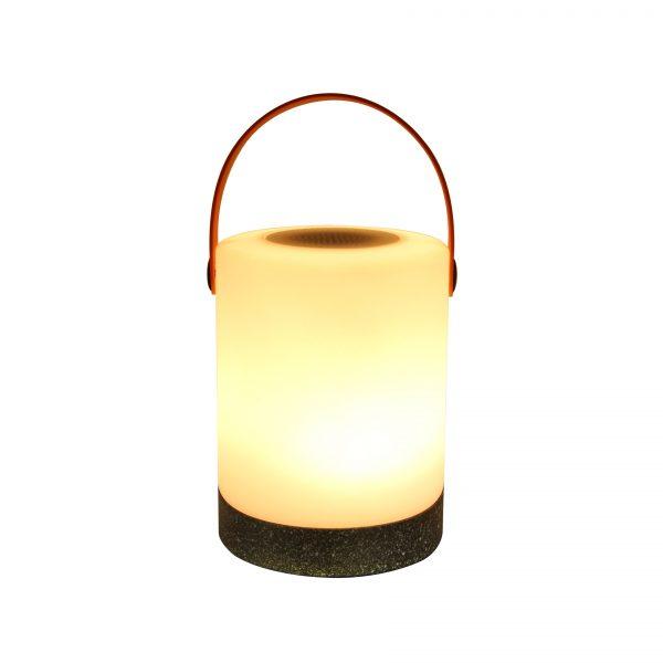 Human Comfort Mably Plus Concrete oplaadbare Outdoorlamp met bluetooth speaker