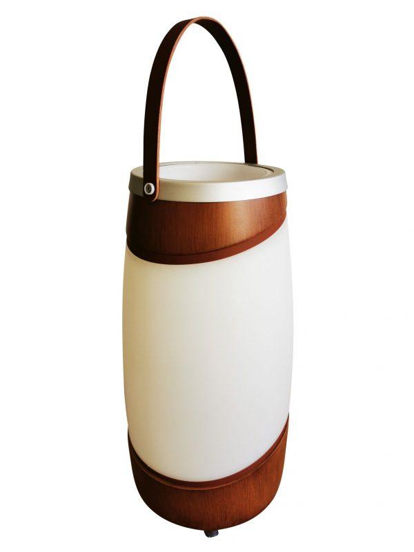 Human Comfort Wijnkoeler Fenne Plus Brown met bluetooth speaker